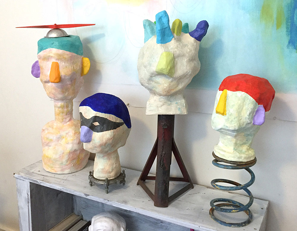 Plaster Heads by Sharon Pierce McCullough